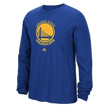 Adidas - Sudadera de manga larga de Golden State Warriors de la NBA, primera equipación, color azul, S: Amazon.es: Deportes y aire libre