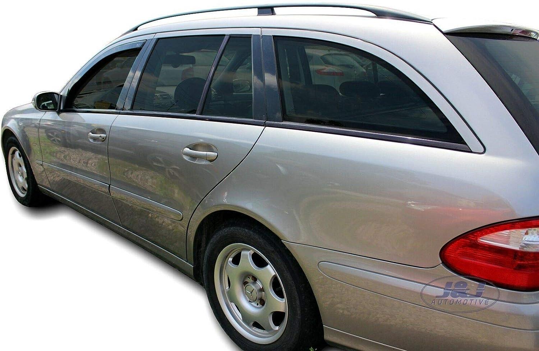 Deflecteurs dair d/éflecteurs de Vent Compatible avec Mercedes E W211 4//5 Portes 2002-2008 2 pi/èces J/&J AUTOMOTIVE