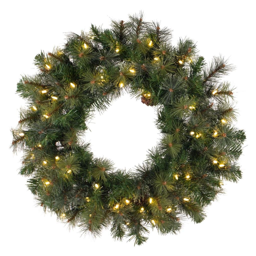 Vickerman Modesto Mix Pine Artificial Wreath with 400 Clear Lights, 72''