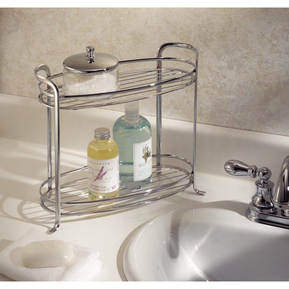 Amazon.com: InterDesign Axis Free Standing Bathroom Vanity Storage ...