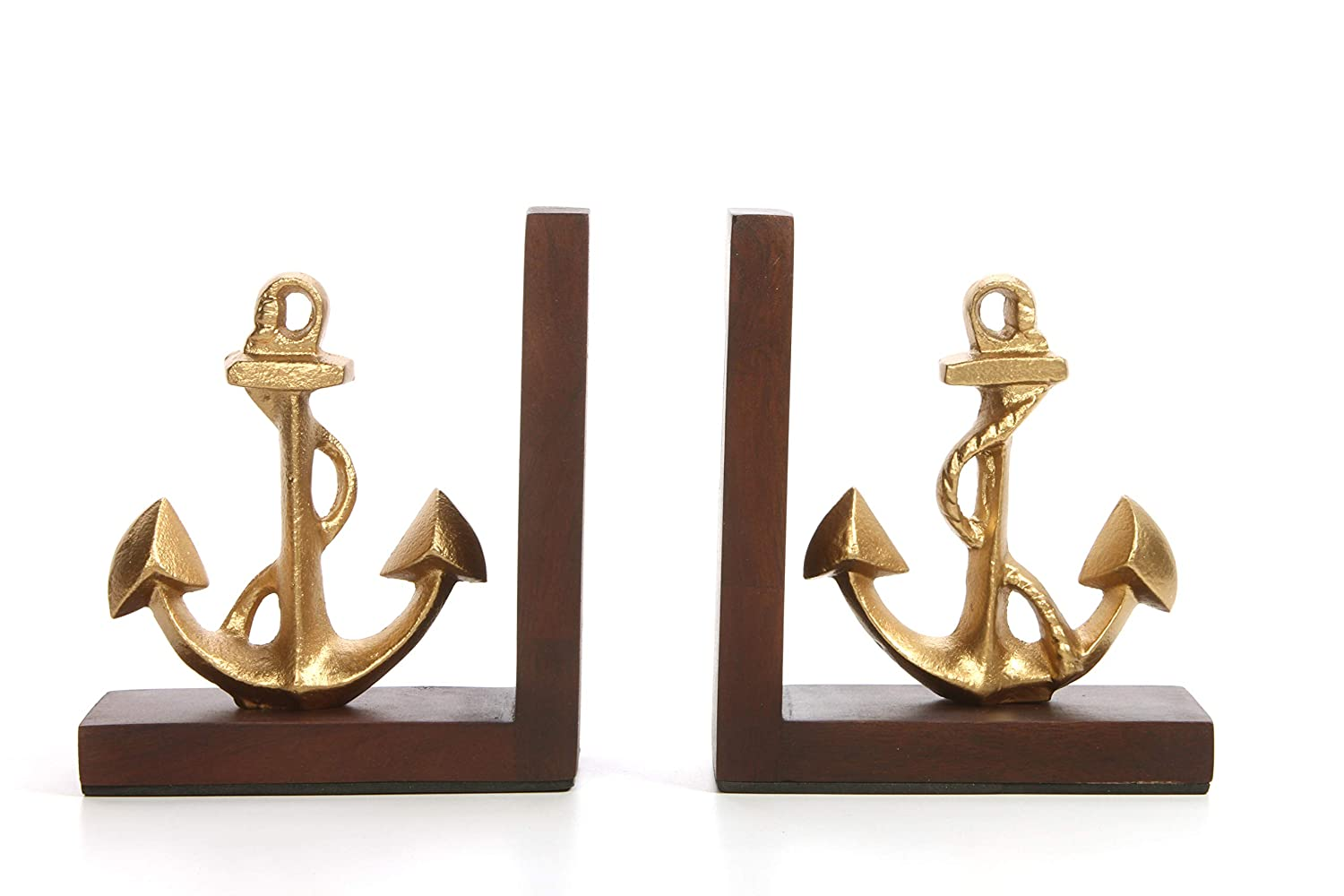 Hosley Decorative Tabletop Anchor Bookends- 6.50 High. Ideal Gift for Wedding, Home, Party Favor, Spa, Reiki, Meditation, Bathroom Settings P1 HG Global