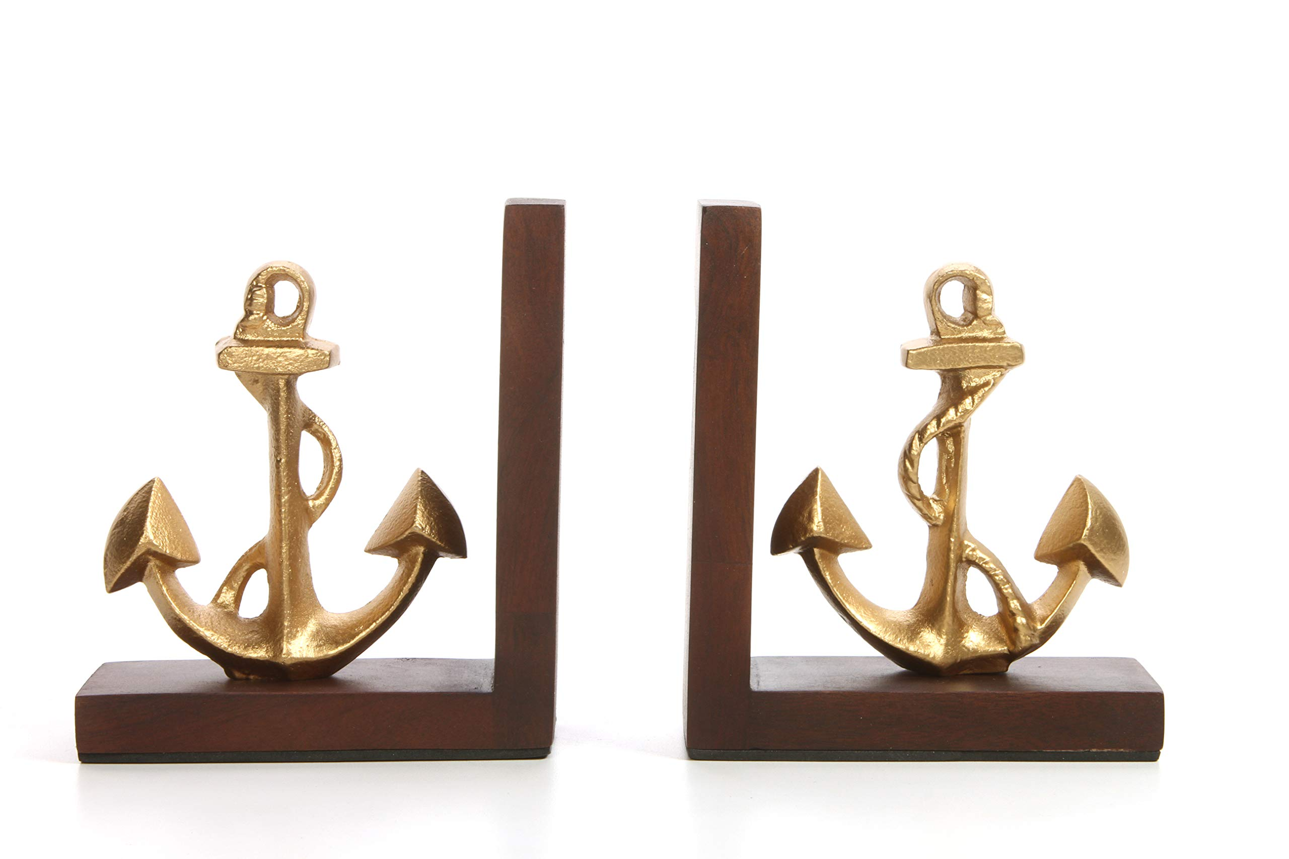 Hosley Decorative Tabletop Anchor Bookends- 6.50'' High. Ideal Nautical Gift for Wedding, Home, Party Favor, Spa, Reiki, Meditation, Bathroom Settings O9