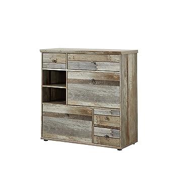 Garderobe Treibholz schuhschrank schuhkommode schuhregal garderobenmöbel dielenmöbel