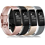 Amzpas kompatibel med Fitbit inspirationsrem och Fitbit inspirera HR-rem, vattentät mjuk sportrem reservarmband för…