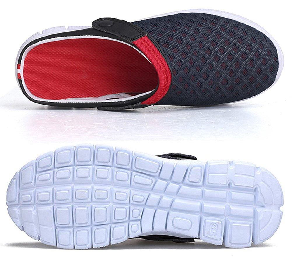 Eagsouni Men's Women's Garden Clogs Mesh Slippers Sandals Breathable Summer Beach Shoes Lightweight Quick Drying Outdoor Walking Slippers