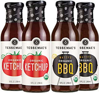 product image for Tessemae's Organic Condiment Variety Pack - Matty's Organic BBQ, Organic Ketchup - 10 oz. bottles (4-Pack, 2 Each)