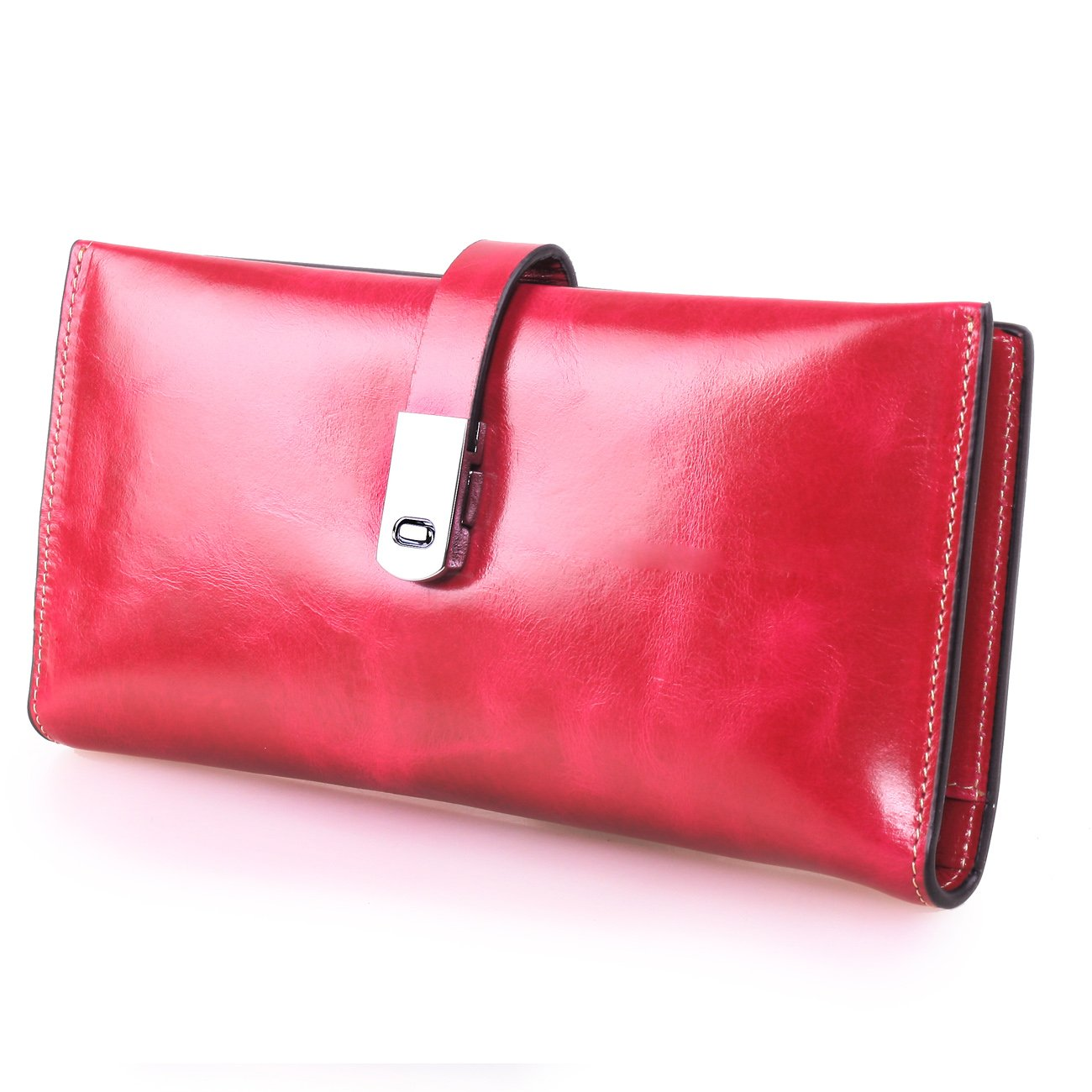 Wallet Ladies Womens Clutch Leather With Zipper Purse Card Clutch Holder Case