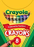 Crayola Classic Color Pack Crayons, Tuck Box, 8 Colors/Box (52-0008)