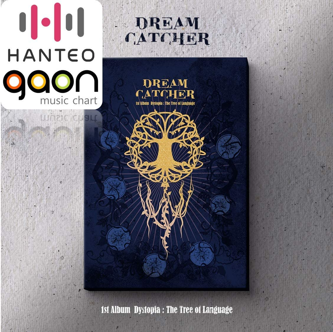 1st Album Dreamcatcher CD+Booklet+Folded Poster+Others with Extra Decorative Sticker Set Dystopia : The Tree of Language Photocard Set L ver.