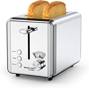 Toasters 2 Slice Best Rated Prime, whall Stainless Steel,Bagel Toaster - 6 Bread Shade Settings,Bagel/Defrost/Cancel Function,1.5in Wide Slots,Removable Crumb Tray,for Various Bread Types (850W) (Silver)