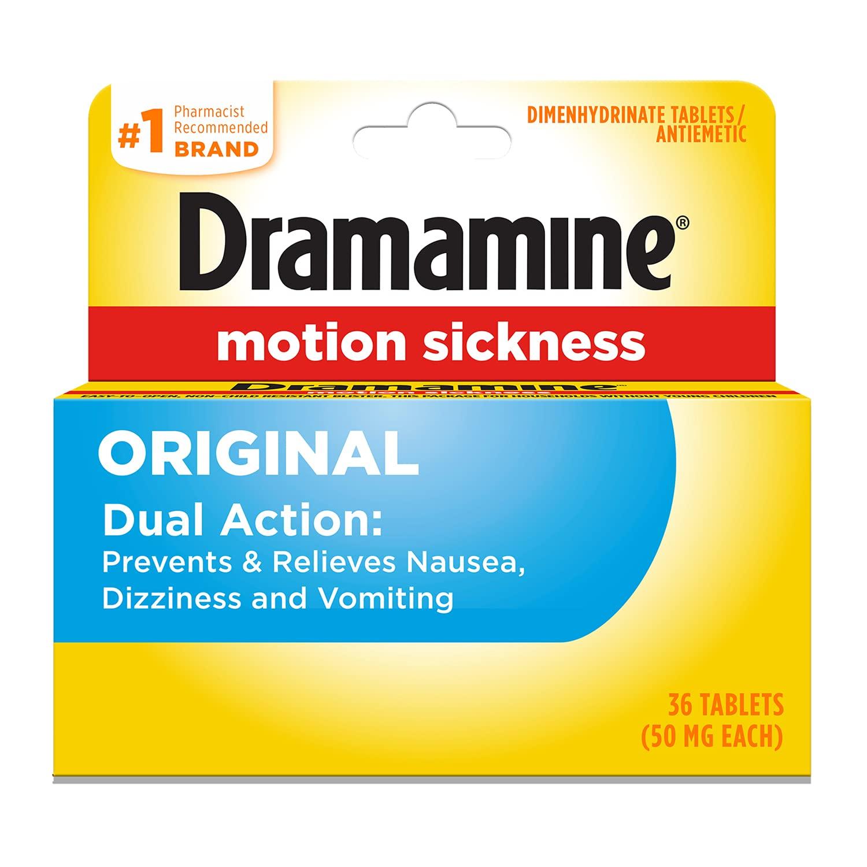 Dramamine Original Formula Motion Sickness Relief   36 Count