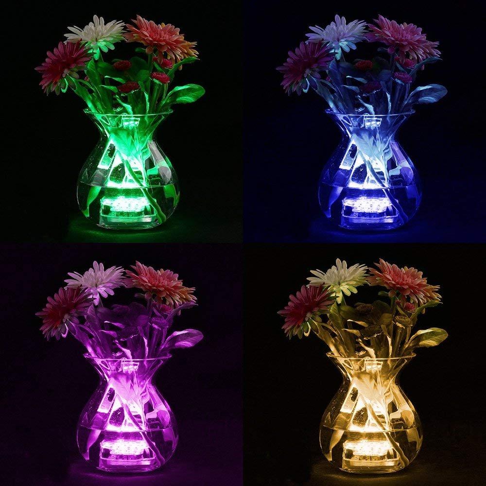 Luz Sumergible, Kolpop Luz Piscina con Mando A Distancia Con Batería 16 Colores que Cambian La Luz Impermeable IP68 para Piscina/Estanque/Acuario/Base de ...