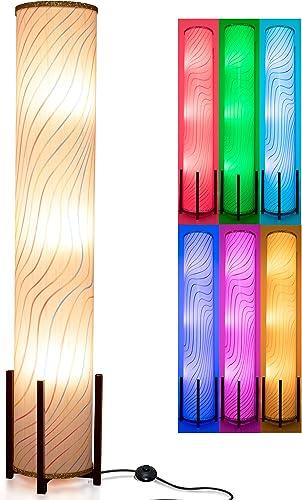 Floor Lamp CAUDTK LED Modern Corner Floor Lamp RGB Color Changing