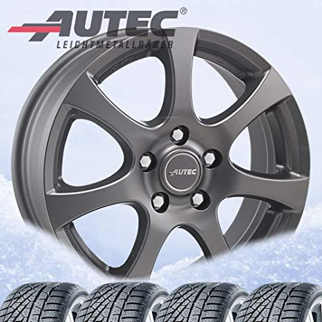 4 Invierno ruedas autec Zenit Antracita 7 x 16, Et42, 5 x 114,