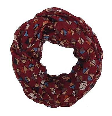 1eed8258b9af Ella Jonte Foulard Écharpe snood loop femme élégant et tendance de la  dernière collection rouge noir
