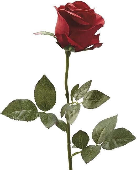 Amazon.com: Lorigun Fake Rose Single Rose Flower Silk Simulation ...