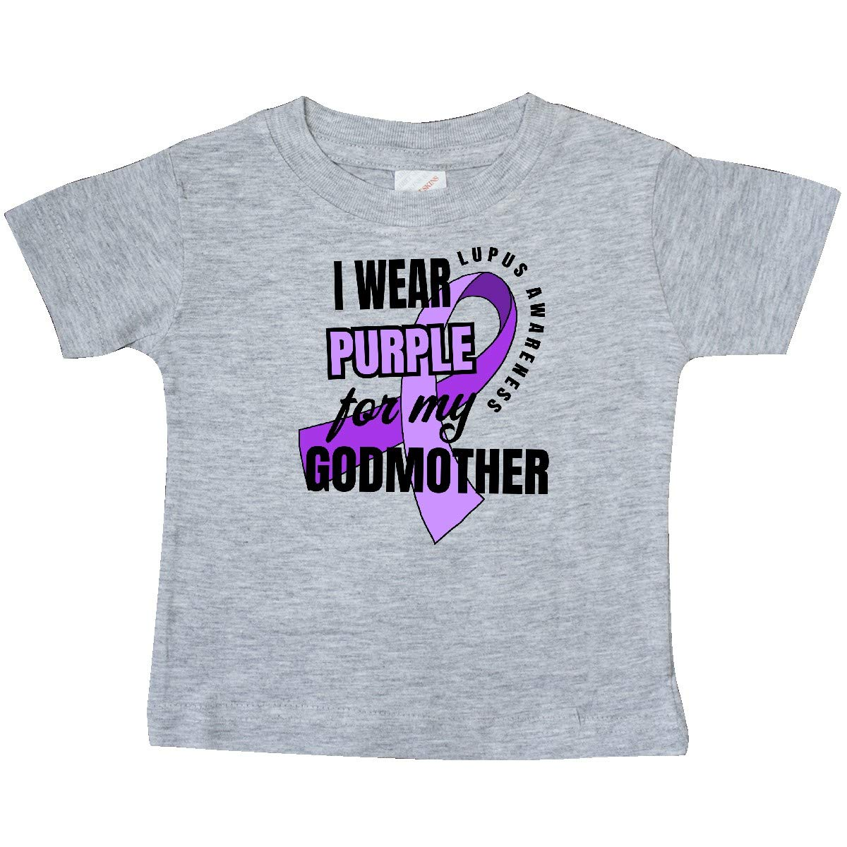 inktastic I Wear Purple for My Godmother Lupus Awareness Baby T-Shirt