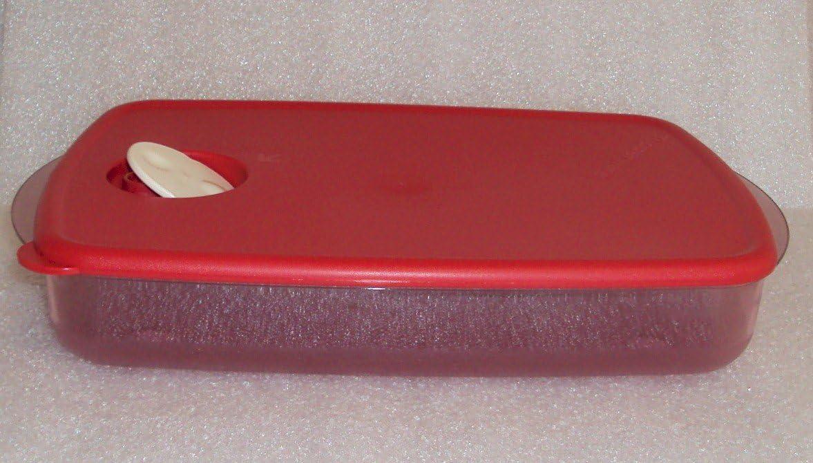 Tupperware Rock N Serve 6 Cup (1.4L) Microwave Dish, Red