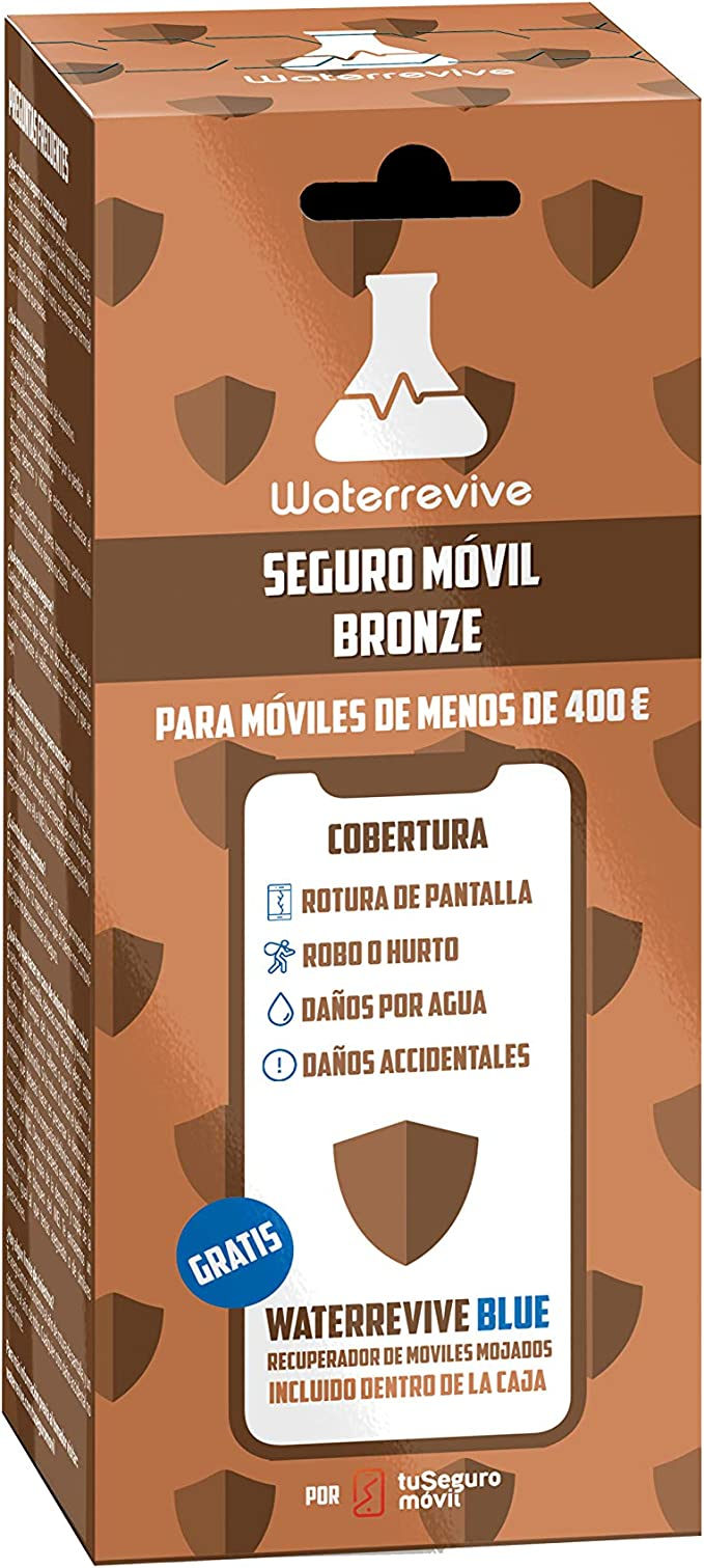Waterrevive Bronze - Seguro Movil Total de 1 Año, para moviles o ...