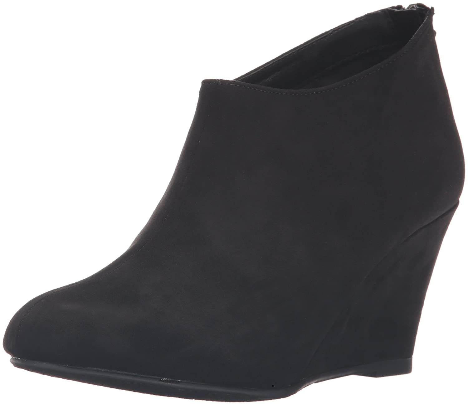 CL by Chinese Laundry Women's Via Wedge Bootie B01EZEHR4S 6.5 B(M) US|Black Super Suede
