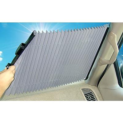 Dash Designs 19 inch Universal Fit Retractable Auto Windshield Sunshade: Automotive