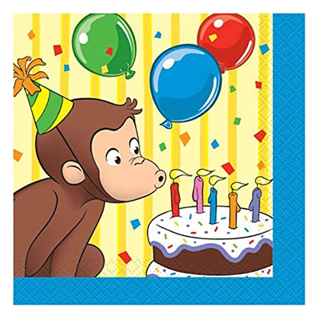 ヴィアライト(VIARITE) おさるのジョージ 紙ナプキン スモール パーティーグッズ 誕生日 Curious George Small  Napkins Party Supplies Birthday