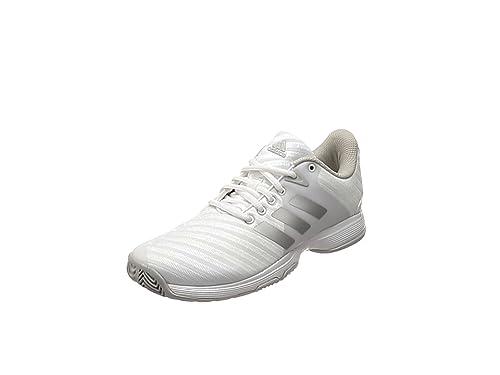 check out e3ffd bdd60 Adidas Barricade Court W, Chaussures de Tennis Femme, Blanc (FtwblaPlamat