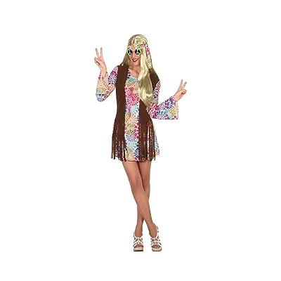 Atosa-16368 Disfraz Hippie, multicolor, XL (16368): Juguetes y juegos