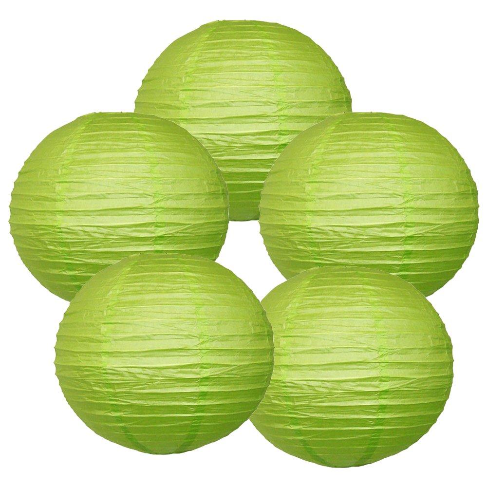 Just Artifacts ペーパーランタン5点セット - (6インチ - 24インチ) 10inch AMZ-RPL5-100033 B01CEX7L20 10inch|ライトグリーン ライトグリーン 10inch
