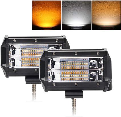 Faro de trabajo LED 2 x 5 pulgadas 12 V 24 V para tractor coche 4