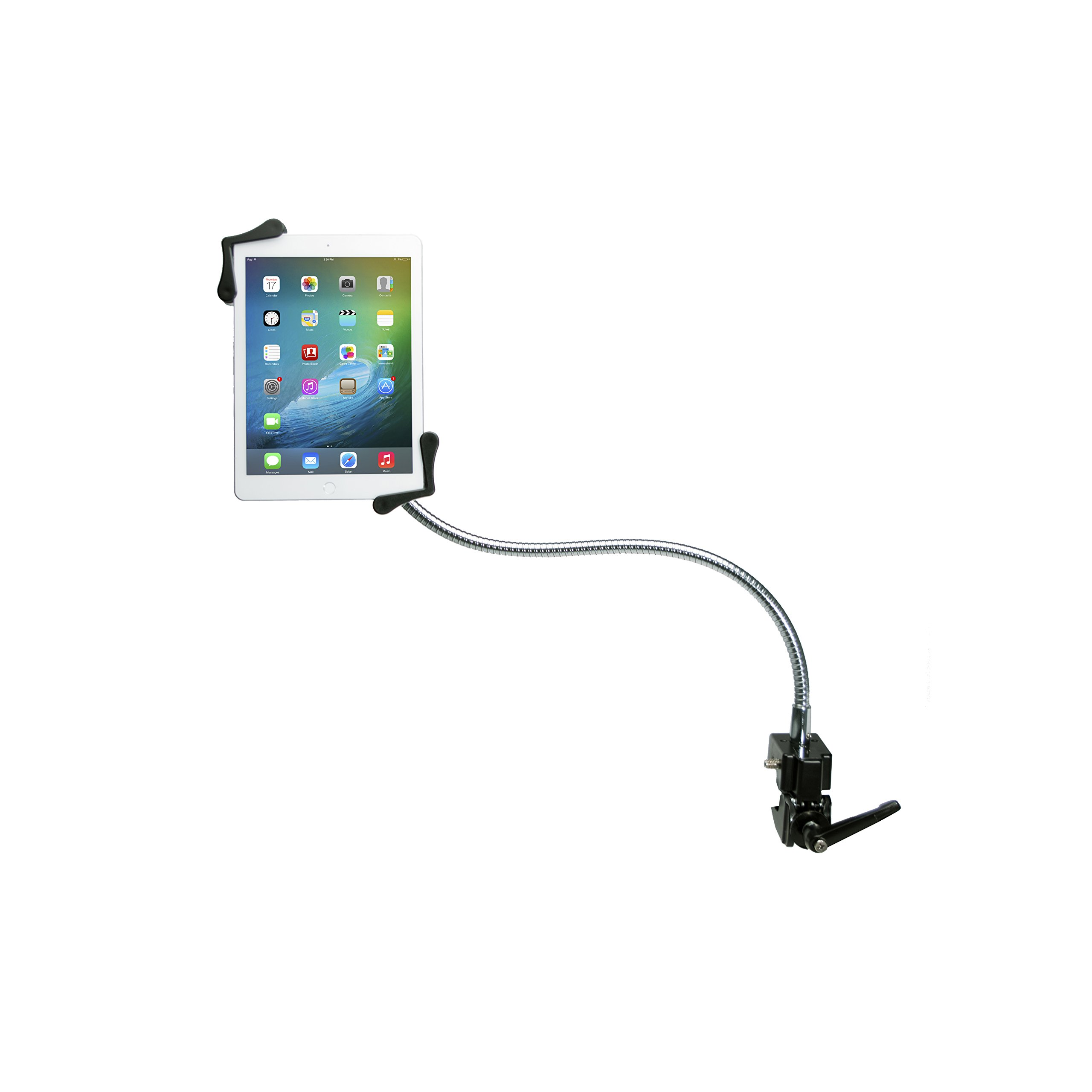 Tablet Mount, CTA Digital Heavy-Duty Gooseneck Clamp Stand For 7-13'' Tablets, fits iPad 10.2-inch (7th Gen.), iPad Air 3, iPad mini 5, 12.9-inch iPad Pro, iPad Gen 6 & More by CTA Digital
