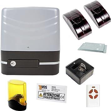 Juego de Automatización Puerta Corredera Automatismo Motor 230 V, 600 Kg VDS SIMPLY: Amazon.es: Bricolaje y herramientas