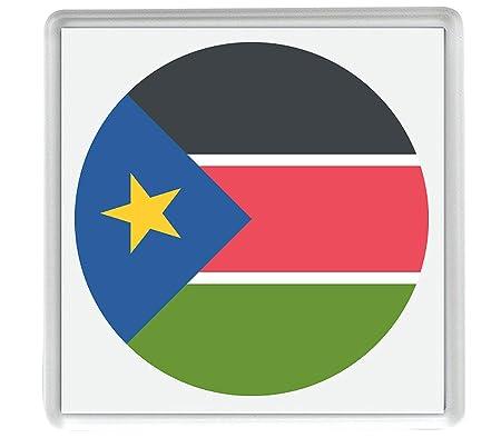 Marca para el Sur de Sudán Emoji 58mm x 58mm Nevera Imán/Flag for ...