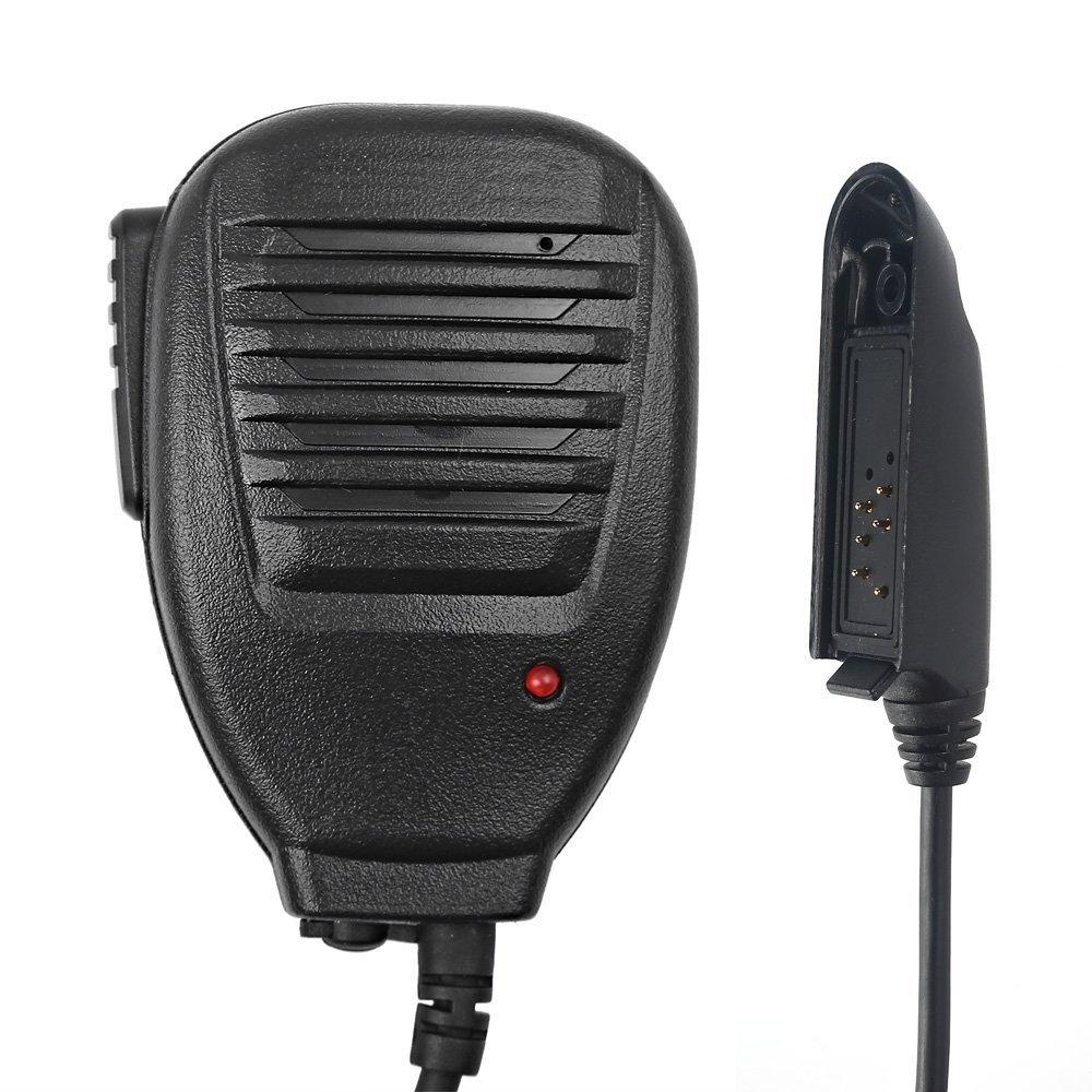 Mengshen Baofeng Lautsprecher Wasserdichtes Mikrofon Waterproof Microphone Rainproof Shoulder Remote Speaker Mic für BaoFeng A58 BF-9700 UV-9R Waterproof Walkie Talkie Funkgerät BF-A58_M