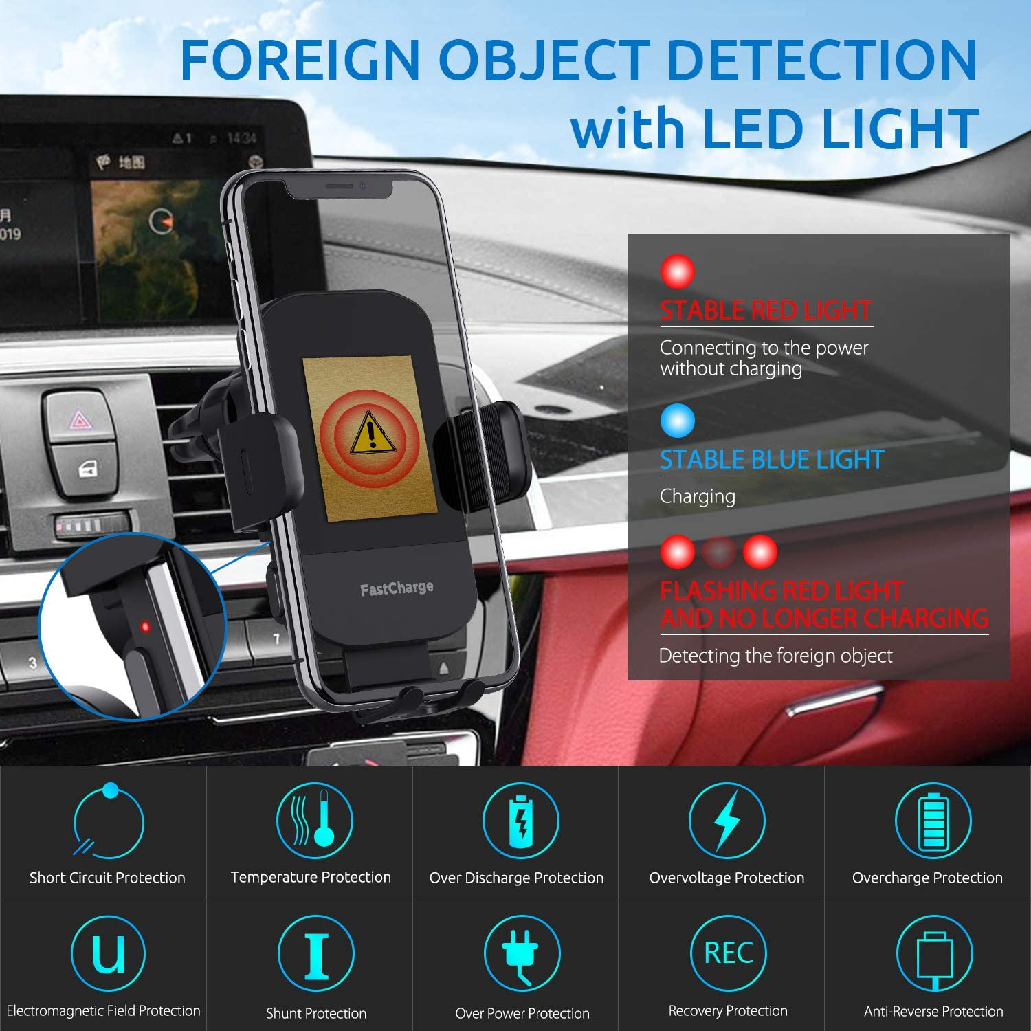 secure smartphone holder for cars wireless