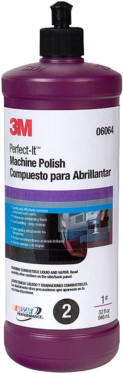 3M Perfect-It Machine Polish (06064) – For Cars, Boats, Trucks, and RVs – 32 Ounces