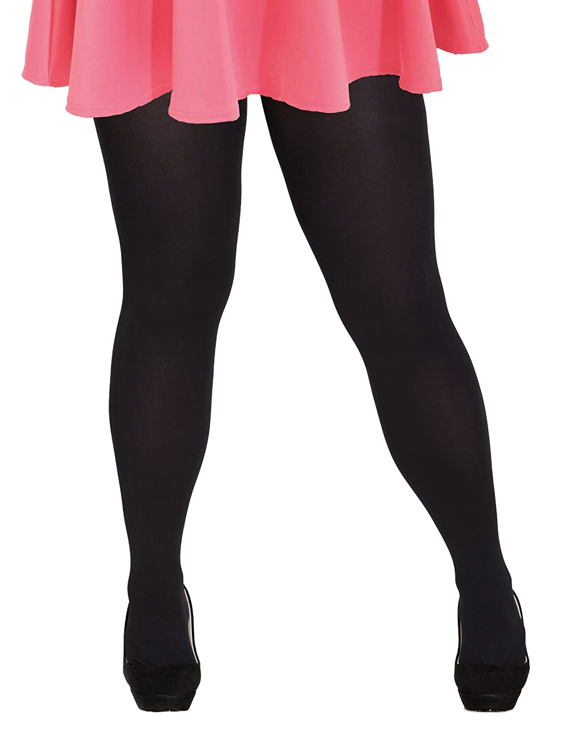 6efbc8458679f Plus Size 80 Denier Opaque Tights 4x/5x in Various Colors (Petite to Tall)  at Amazon Women's Clothing store: