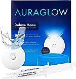 AuraGlow Teeth Whitening Kit, LED Light, 35% Carbamide Peroxide, (2) 5ml