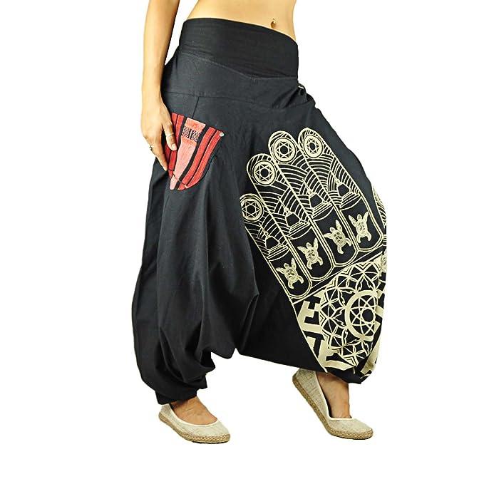 virblatt Pantalones Bombacho Mujer Yoga cagados como pantalón Chandal árabe - Entspannt