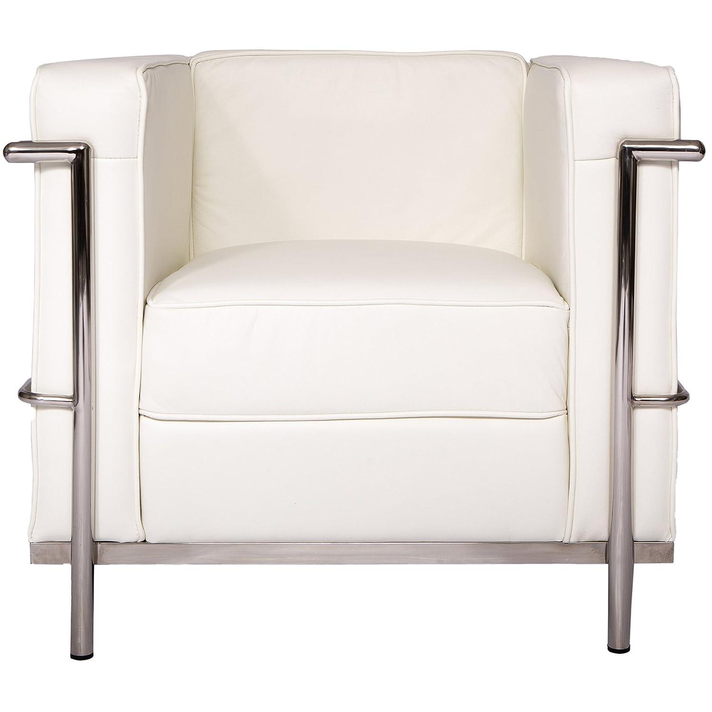 LeisureMod Le Corbusier Style LC2 - Sillón de salón (1 ...