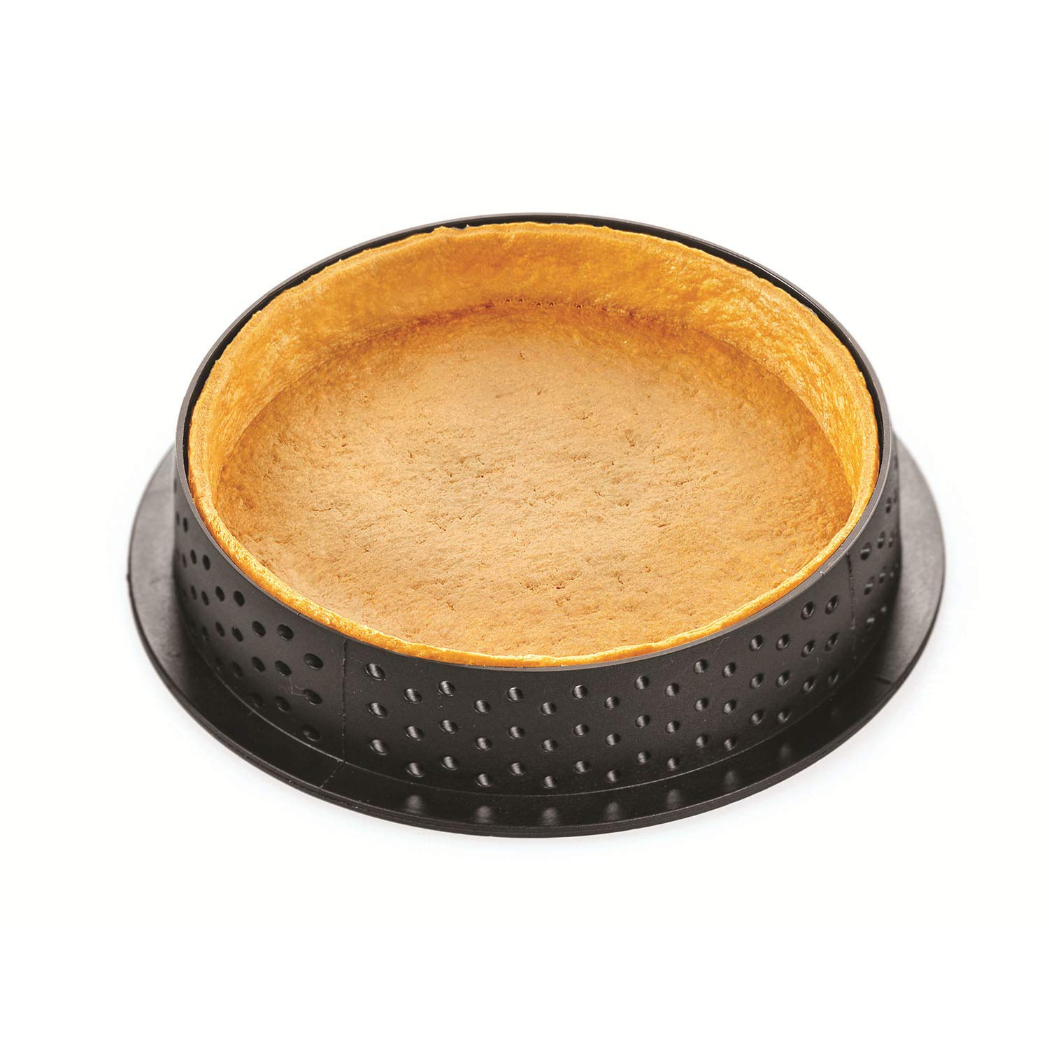 Silikomart''Kit Tarte Ring Honoré 80'' Silicone Mold with 8 Cavities, Each 2.75 Inch Diameter x 0.51 Inch High, Plus 8 Heat-Resistant Perforated Plastic Round Cutting Rings by Silikomart (Image #5)