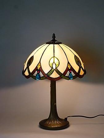 9590c78b69cf4b Bella-Vita Dapo Hochwertige Echtglas Tiffany Tischleuchte Chantal groß  Lampe im Tiffany Stil Leuchte