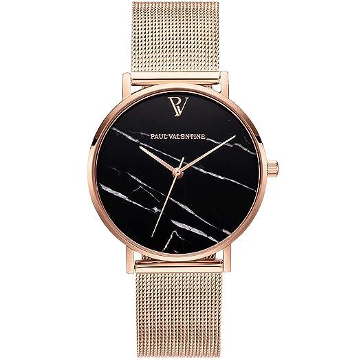 Paul Valentine PV36911 - Reloj de Pulsera para Mujer, Color Negro y Dorado: Amazon.es: Relojes