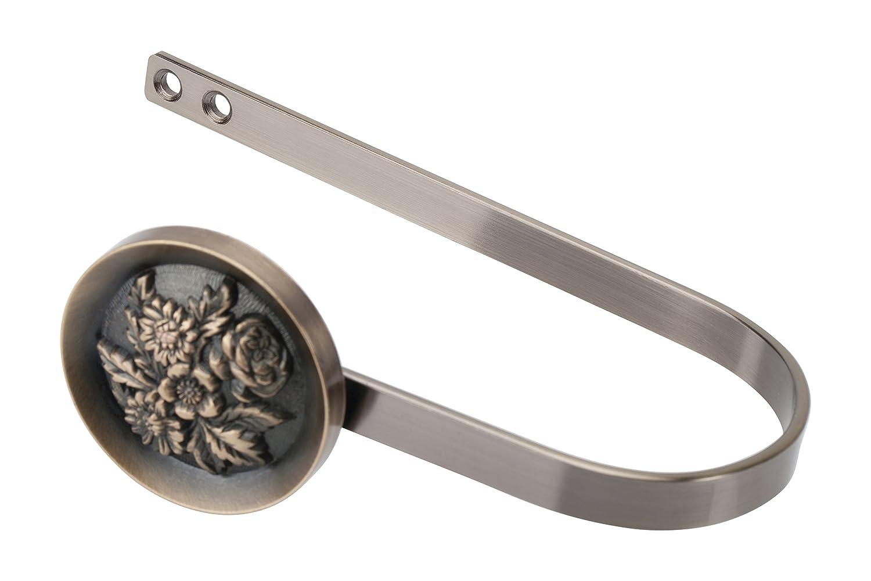 Raffhalter / Schalhalter / Raffbügel für Gardinen, antik messing