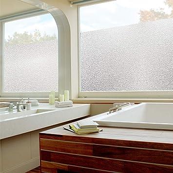 NACTECH Film Fenêtre Pour Vitre Dépoli Intimité Film De Fenêtre Autocollant  Effet Givré Anti UV Protection