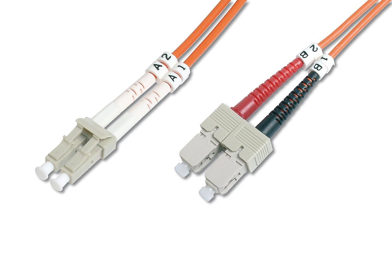 3 m Ednet LP7299 Cavo Fibra Ottica SC a SC Multimode Duplex 50//125