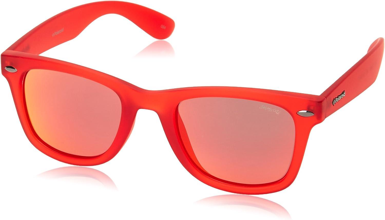 Shiny Red Polaroid Sun P8400 0Z3//OZ-50-22-146 Montature 50 Unisex Adulto
