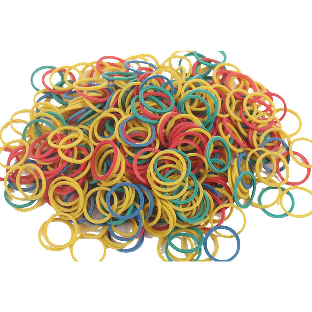 AODEW 500g Rubber Bands Elastic Stretchable Office Rubber Bands General Purpose Rubber O Ring Bands for Home, Bank, School, Office Suppliers, Colorful