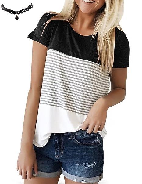 UUAISSO Mujeres Camisetas T Shirt Manga Corta Labios Túnica Casual Blusas Camisas Tops: Amazon.es: Ropa y accesorios