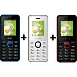I KALL K66 Combo Power Pack Of Three Mobile- Red,White and Blue